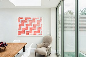 Use of glass to create light and space in House extension, London