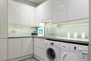 Compact Basement Kitchen Clapham South, London