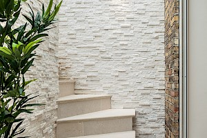 White Basement Staircase, London
