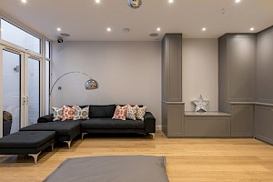 Open plan social space, Clapham South