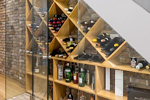 Bespoke Glass Wine Case for Clapham South Basement Conversion