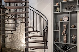 Contemporay Basement Staircase