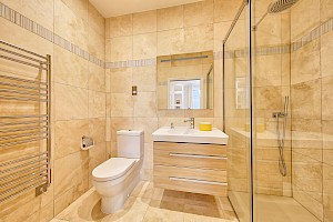 Basement ensuite bathroom.